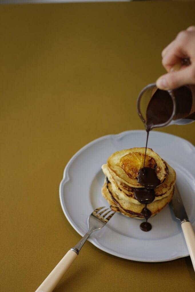 orange pancake by tomotaka yamano 「シンブル素材のナチュラルスイーツ」