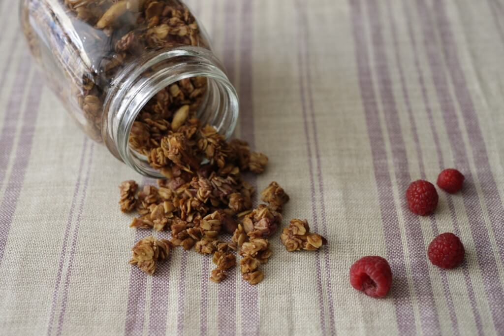 raspberry granola by tomotaka yamano 「シンブル素材のナチュラルスイーツ」